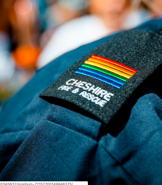 Rainbow epaulette ©  Cheshire Fire and Rescue Service
