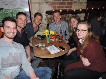 Quizzers enjoying the Stonewall Cymru Pub Quiz 2015