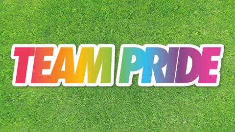 Team Pride and Stonewall's Rainbow Laces Campaign