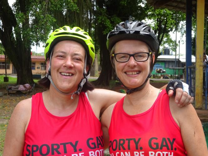 Sue and Jude taking the Cycle Costa Rica challenge 2015