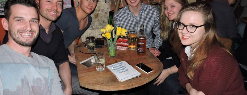 Quizzers enjoying the Stonewall Cymru Pub Quiz 2015