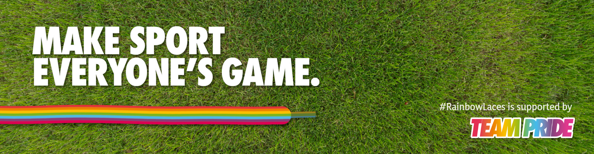 Rainbow Laces header - TeamPride