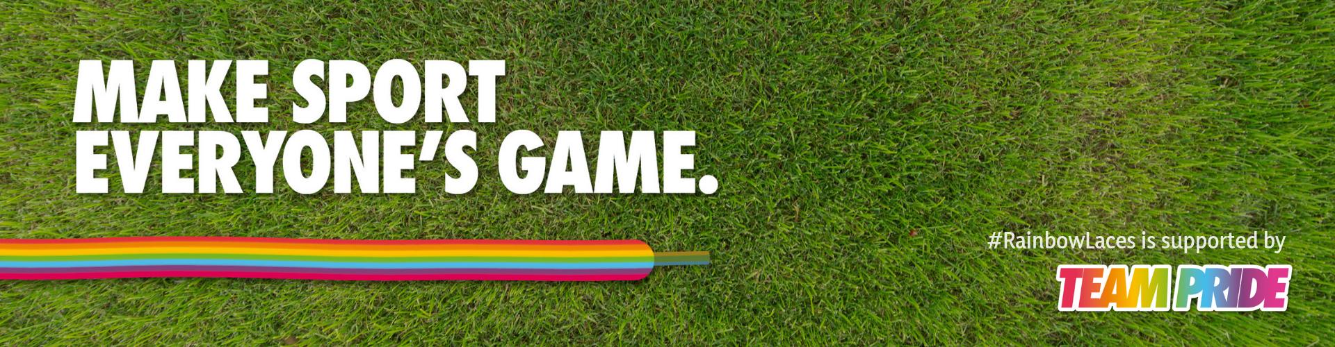 Rainbow Laces header - TeamPride